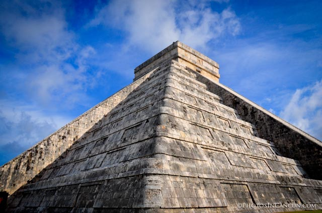 View of Fall Equinox Shadow on Chichen Itza