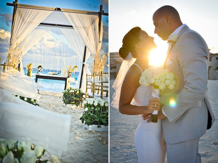 le blanc spa resort hotel wedding sunset wedding