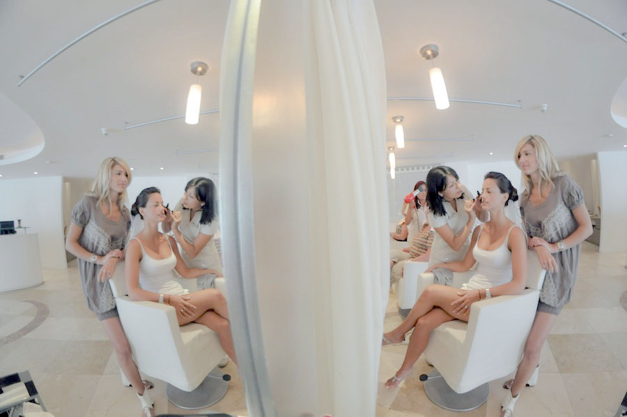 le blanc spa and hotel wedding hair and make up photo
