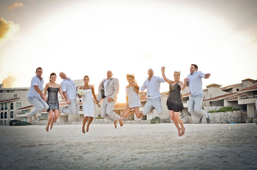 le blanc wedding jump photo