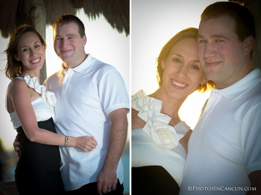 sunset romantic family photos in cancun mexico