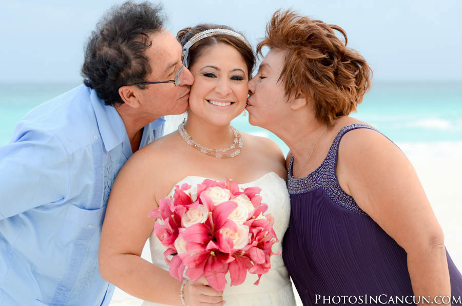 Cancun Mexico Candid Wedding