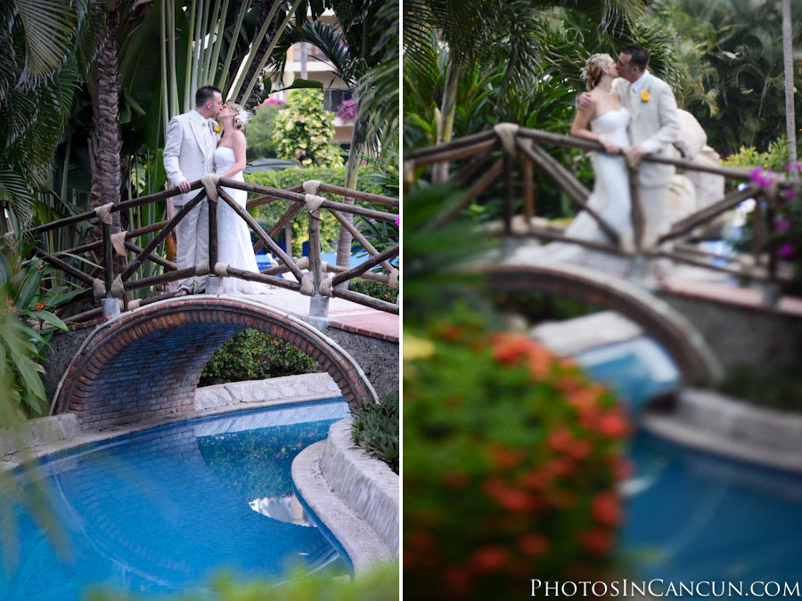 Fountain Wedding Photography at Villas Vallarta Hotel
